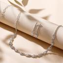 Vakkert kobber med Rhinestone Damene ' Smykker Sett