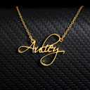 18k Gold Plated Name Name Necklace Pendant Necklace -