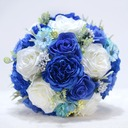 Round Satin/Emulational Berries Bridal Bouquets/Bridesmaid Bouquets -
