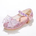 Jentas Lukket Tå Microfiber Lær flat Heel Flower Girl Shoes med Bowknot