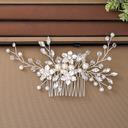 Damer Elegant Crystal/Imitert Perle/Glass Kammer og Barrettes med Venetianske Perle/Crystal (Selges i ett stykke)