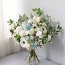 Blooming Free-Form Silk/Cloth Bridal Bouquets -