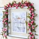 Blomst Vintreet/Vakkert Attraktiv Silke blomst Kunstige Blomster (Selges i en haug)