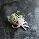 Klassisk stil Hånd Bundet Satin/Silke blomst Boutonnie (som selges i et enkelt stykke) - Boutonnie