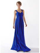 Chiffon Floor-length Empire Sweetheart Bridesmaid Dress