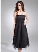 Empire Sweetheart Knee-Length Satin Maternity Bridesmaid Dress With Ruffle
