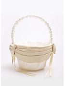 Flower Girl Satin Flower Basket