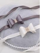 Blomsterjente Polyester Bånd med Profilering/Rhinestones