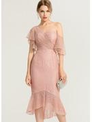 Trumpet/Mermaid One-Shoulder Asymmetrical Lace Cocktail Dress