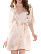 Satin Lace Bride Bridesmaid Blank Robes