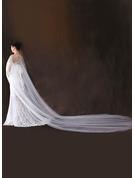 One-tier Cut Edge Chapel Bridal Veils/Cathedral Bridal Veils With Rhinestones