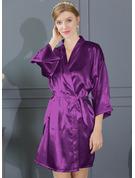 Brud Brudepike charmeuse med Kort Kimono robes
