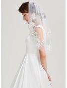 One-tier Lace Applique Edge Elbow Bridal Veils