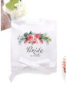 Personalized Charmeuse Bride Bridesmaid Mom Junior Bridesmaid Lace Robes