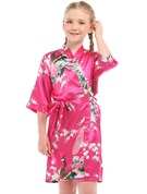 Charmeuse Flower Girl Floral Robes