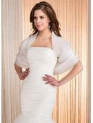 Half-Sleeve Organza Wedding Wrap