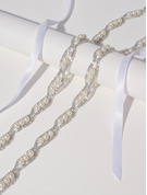 Blomsterjente Polyester Bånd med Rhinestones