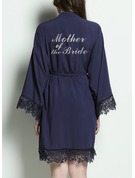 Cotton Bride Bridesmaid Mom Junior Bridesmaid Glitter Print Robes