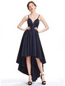 A-Line Sweetheart Asymmetrical Taffeta Homecoming Dress