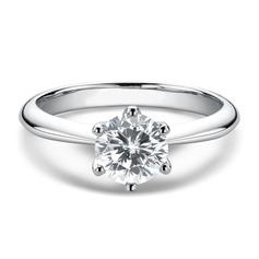 Solitaire Round Cut 925 sølv Løfteringer (306255835)