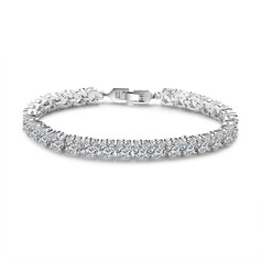 Delicate Chain Tennis Bridal Bracelets Bridesmaid Bracelets - Valentines Gifts For Her (106215279)