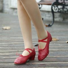 Kvinner Egte Lær Ballett Dansesko