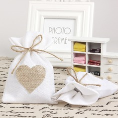 Heart style Handbag shaped Linen Favor Bags