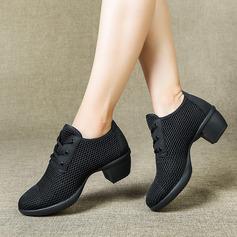 Women's Cloth Heels Latin Modern Jazz Dance Shoes
