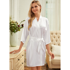 Personalized Satin Bride Bridesmaid Glitter Print Robes (248151593)