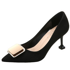 Women's Suede Stiletto Heel With Buckle shoes