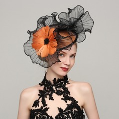 Damene ' Vakkert Cambric/Fjær med Fjær Fascinators/Kentucky Derby Hatter