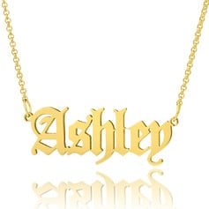 [Free Shipping]Custom 18k Gold Plated Old English Name Necklace - Birthday Gifts Mother's Day Gifts (288217716)