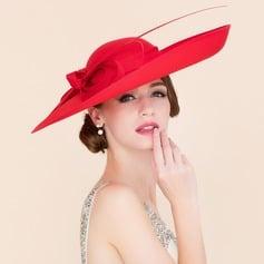 Damene ' Elegant Cambric med Bowknot Stiv / Cloche Hatt/Kentucky Derby Hatter (196086556)