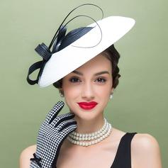 Damene ' Vakkert Polyester med Fjær Diskett Hatt/Tea Party Hats
