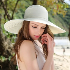 Damene ' Nydelig/Elegant Raffia Strå med Bowknot Diskett Hatt/Kentucky Derby Hatter