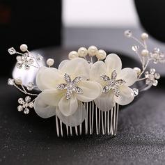 Damer Elegant Legering/Imitert Perle/Silke blomst Kammer og Barrettes