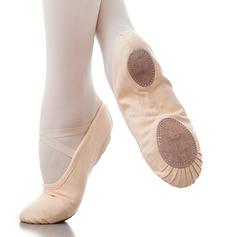 Kvinner Lerret Flate sko Ballett Dansesko