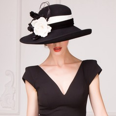 Damene ' Iøynefallende Ull Stiv / Cloche Hatt/Tea Party Hats