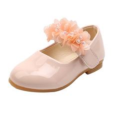 Girl's Closed Toe Flat Heel Flower Girl Shoes