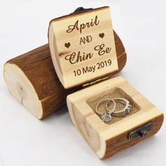 Personlig/Rustikk Wood Ring Boks (103206355)