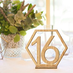"""Sweet Love""/""Happy Wedding"" Wooden Table Number Cards (Set of 20)"