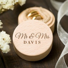 """Mr & Mrs.""/Personlig Wood Ring Boks (103217048)"
