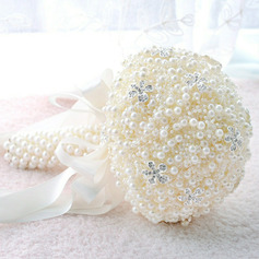 Classic Hand-tied Acrylic/Rhinestone/Imitation Pearl Bridal Bouquets (Sold in a single piece) - Bridal Bouquets