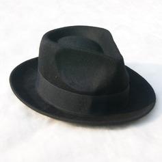 Menn Glamorøse/Elegant/Enkel Felt Fedora Hat