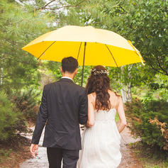 Plast Bryllup Paraplye