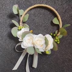 Klassisk stil Hånd Bundet Satin/Simulerings Bær/Silke blomst/Sengetøy tauet/Kunstige Blomster Brude Buketter/Brudepike Buketter/Bryllup Bord Blomster (som selges i et enkelt stykke) - Brude Buketter/Brudepike Buketter