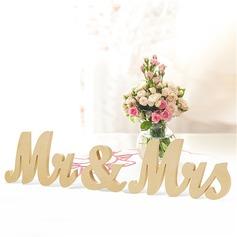 """""""Mr. & Mrs."""" Delikat Tre Dekorative tilbehør"""