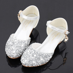 Jentas Round Toe Sparkling Glitter Flower Girl Shoes med Crystal (207224862)