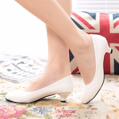 Women's Leatherette Low Heel Closed Toe shoes