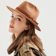 Menn Glamorøse/Klassisk stil/Iøynefallende Ull Fedora Hat/Panama Hat